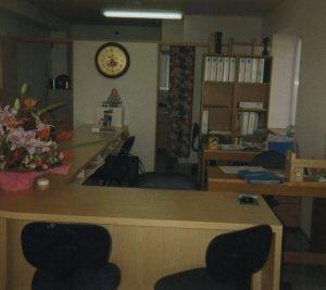 移転時事務所内部